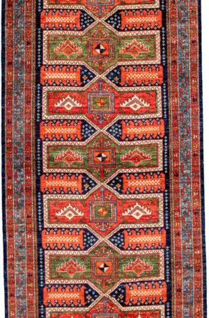 Pakistani Caucasian Kelleghi Red Tribal Area Rug