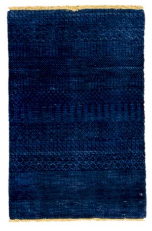 Tribal 2x3 Blue Wool Area Rug