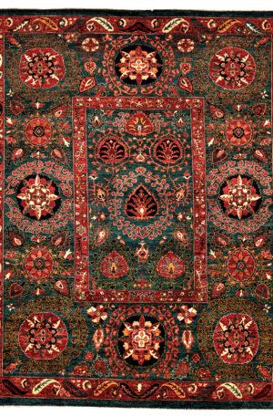 Afghan Tribal 9X12 Blue Ivory Wool Area Rug