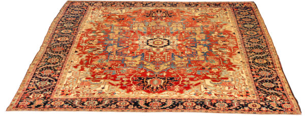 Antique Persian Serapi 10X14 Red Wool Area Rug