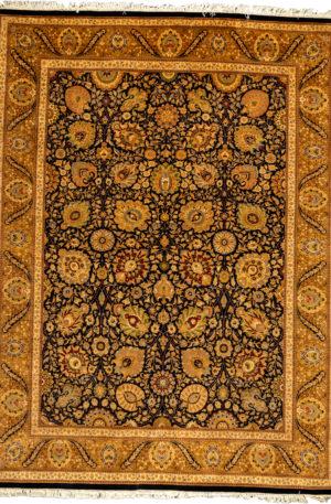 Pakistan Tabriz 9X12 Ivory Wool Area Rug