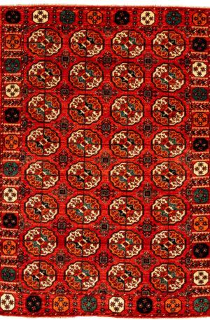 Afghan Hazara 6X9 Red Wool Area Rug