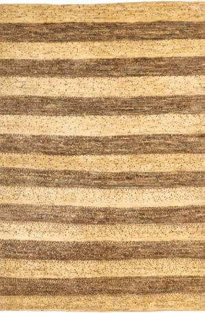 Persian Gabbeh 4X6 Ivory Wool Area Rug