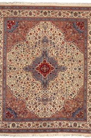 Tabriz 9X12 Ivory Wool Area Rug