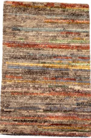 Contemporary Nepal 2X3 Multi Wool Area Rug