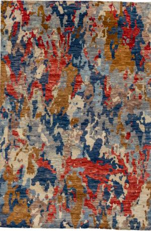 Contemporary 6X9 Multi Color Wool Area Rug