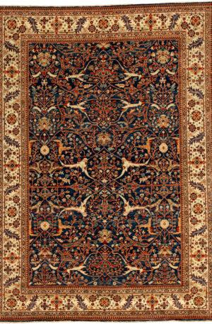 Afghan Nooristan 6X9 Blue Wool Area Rug