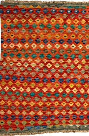 Flatweave 3X5 Multi Color Wool Area Rug