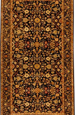 Tabriz 4X6 Black Wool Area Rug
