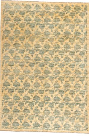 Afghan Bessarabian 6X9 Ivory Wool Area Rug