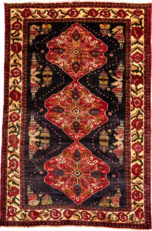 Persian Shiraz 5X8 Blue Wool Area Rug