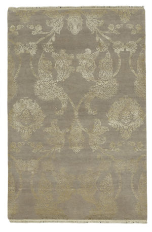 Contemporary 4X6 Beige Wool Area Rug