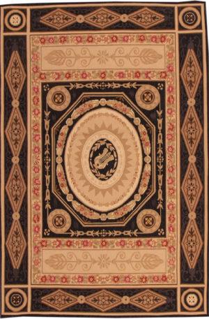 Flatweave 4X6 Black Wool Area Rug