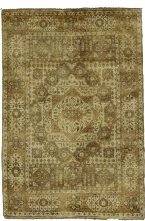 4X6 Green Wool Area Rug