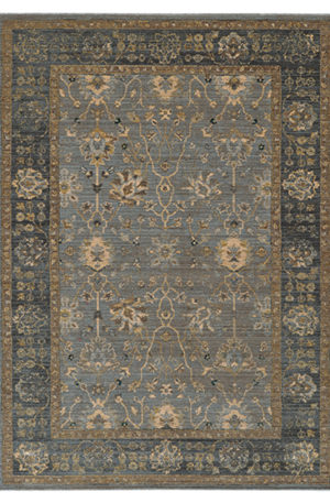 Vintage Collection 3X5 Blue Transitional Area Rug