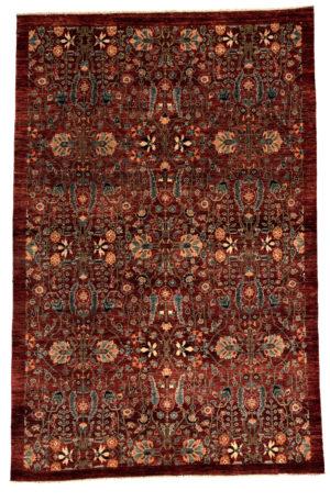 Afghan Faryab 6X9 Red Wool Area Rug
