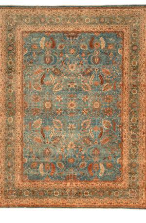 Afghan Nooristan 8X10 Blue Blue Wool Area Rug