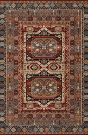 Timeless Collection 4X6 Red Traditional Area Rug