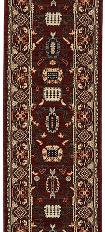 Kemereh Collection Runner Burgundy Tribal Area Rug