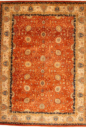 Pakistan Tabriz 10X14 Red Wool Area Rug