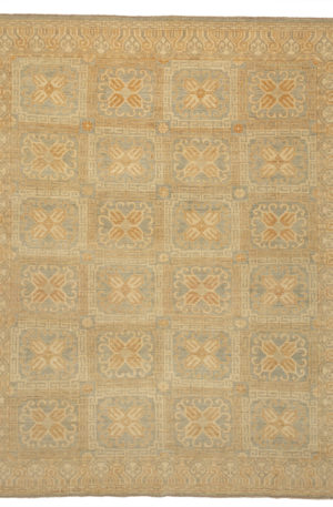 Pakistan Traditional 8X10 Blue Wool Area Rug