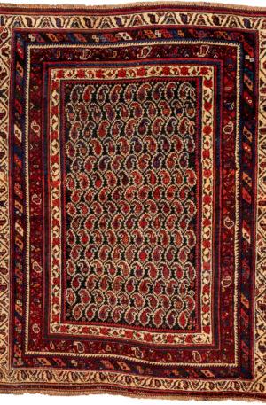 Persian Afshar 4X6 Blue Wool Area Rug