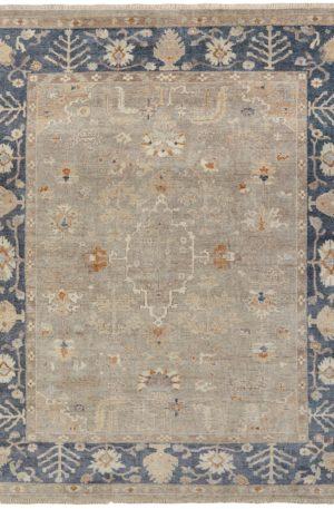 Anatolia Collection 6X9 Grey Blue Area Rug