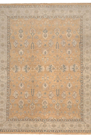 Transitional 8X10 Beige Wool Area Rug