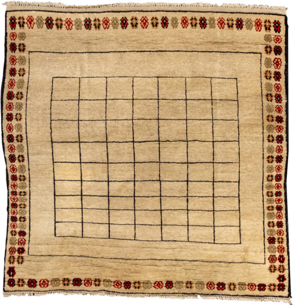 Turkish Yatak 4X6 Ivory Wool Area Rug