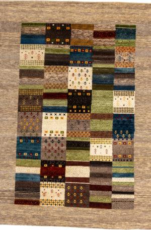 Gabbeh 5X8 Multi Color Wool Area Rug
