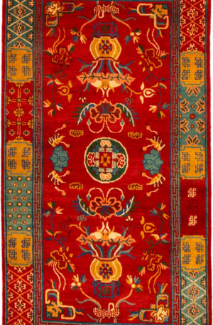 Traditional Nepal 3X5 Red Wool Area Rug