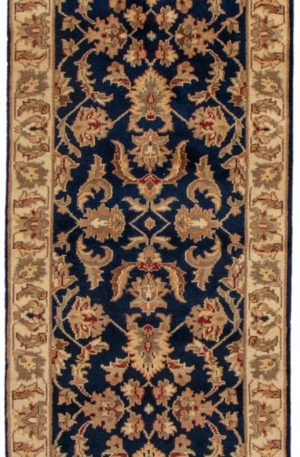 Mahal Runner Blue Wool Area Rug