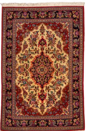 Iran Sawah 4X6 Ivory Wool Area Rug