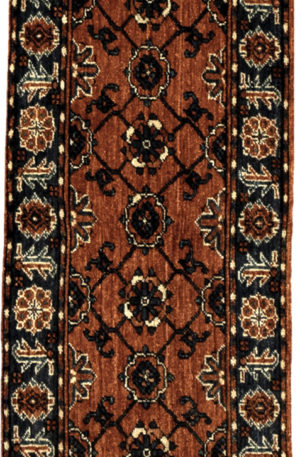 Afghan Turkmen Ersari 2X6 Red Blue Wool Area Rug