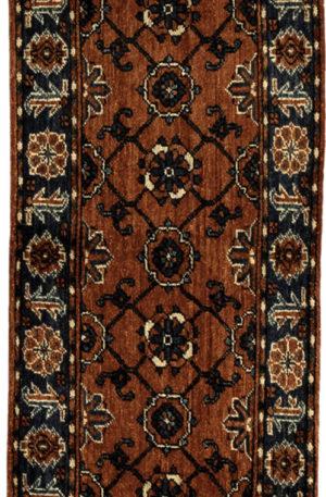 Afghan Turkmen Ersari Runner Red Wool Area Rug