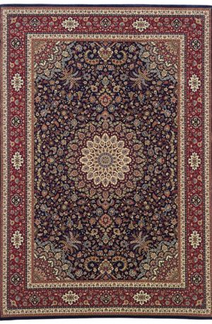 Ari Collection 5X8 Blue Red Traditional Design Area Rug