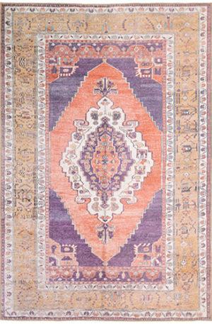 Wisdom Collection 5X8 Purple Orange Traditional Design Area Rug