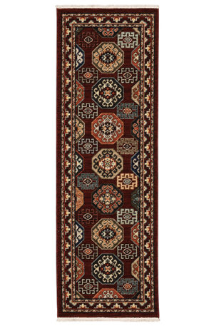 Kemereh Collection 2'x6' Traditional Design Rug