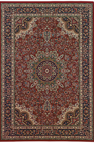 Ari Collection 4X6 Red Traditional Area Rug