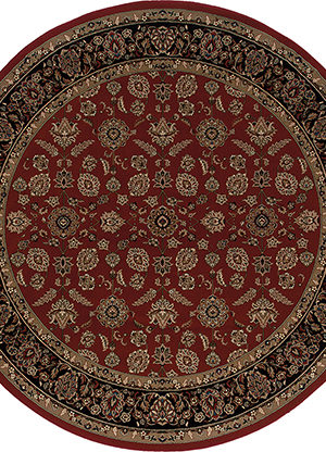 Ari Collection 5X8 Red Round Traditional Area Rug