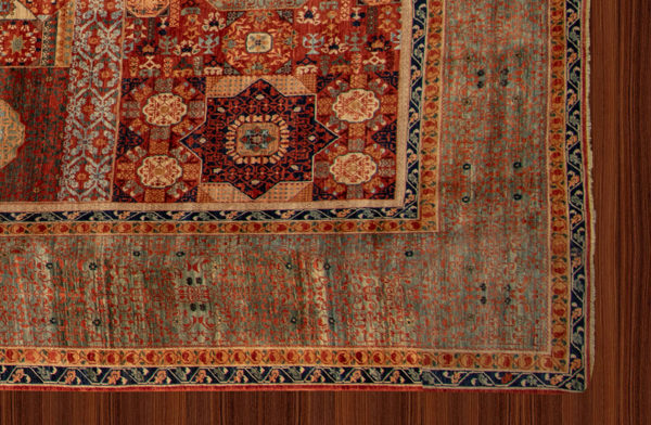 Afghan Oversize Red Blue Wool Area Rug
