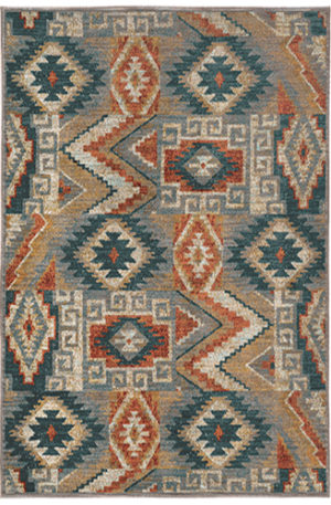 Arizona Collection 5x8 Grey Tribal Area Rug