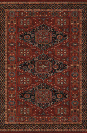 Classics Collection 4x6 Red Traditional Area Rug