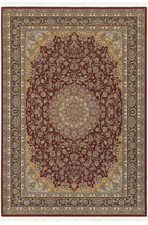Classical Collection 4x6 Red Traditional Area Rug