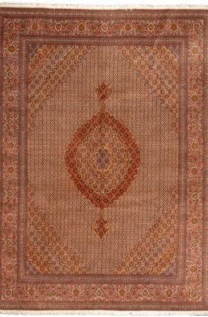 Persian Tabriz 8X10 Ivory Wool Area Rug