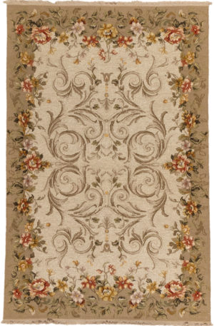 Floral 3X5 Gold Area Rug
