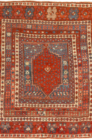 Antique Turkish 4X6 Wool Area Rug