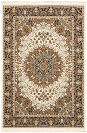 Classical 4x6 Ivory Traditional Area Rug