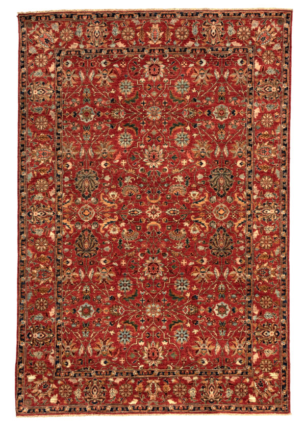 Afghan 6X9 Red Red Wool Area Rug