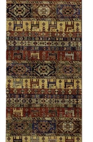 Afghan Runner Multi Wool Area Rug